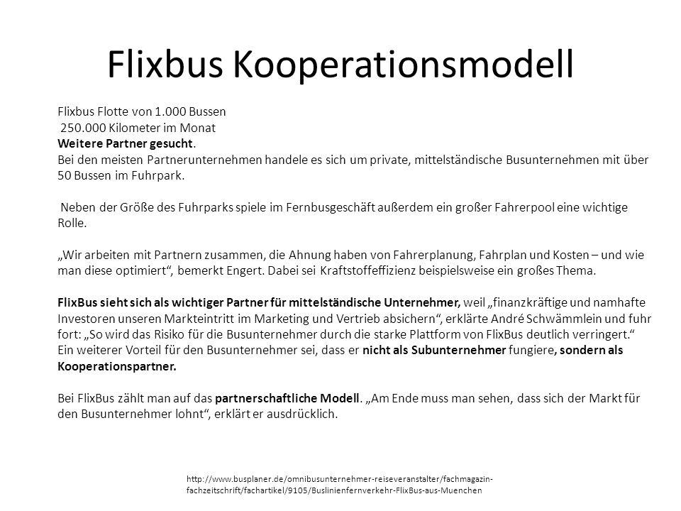 Flixbus Kooperationsmodell