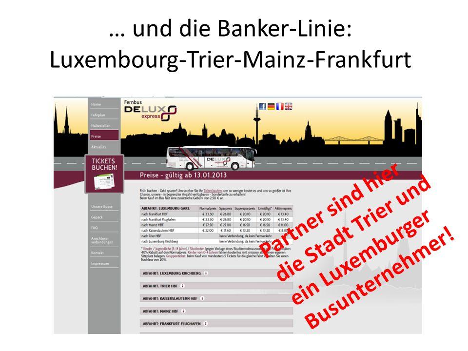 … und die Banker-Linie: Luxembourg-Trier-Mainz-Frankfurt