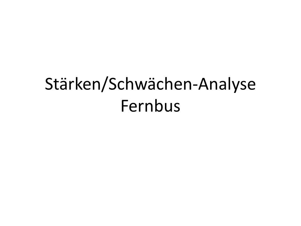 Stärken/Schwächen-Analyse Fernbus