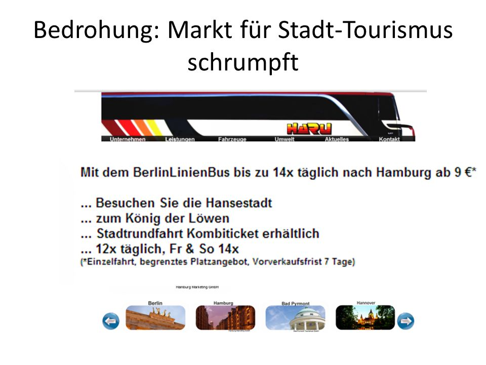 Bedrohung: Markt für Stadt-Tourismus schrumpft