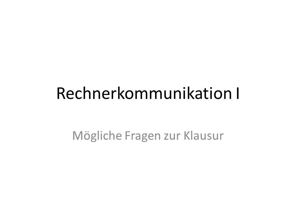 Rechnerkommunikation I
