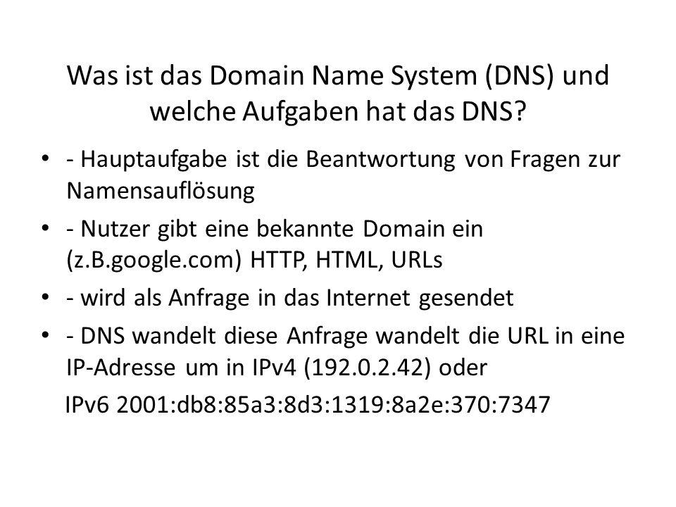 Was ist das Domain Name System (DNS) und welche Aufgaben hat das DNS