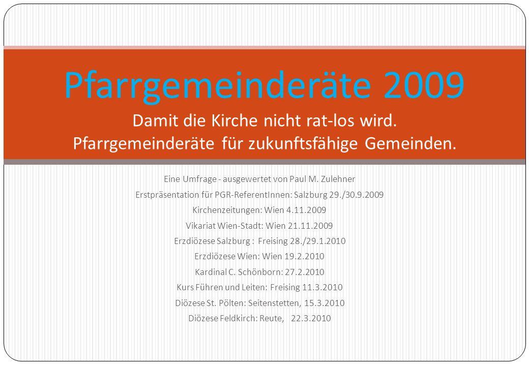 Pfarrgemeinderäte 2009 Damit die Kirche nicht rat-los wird
