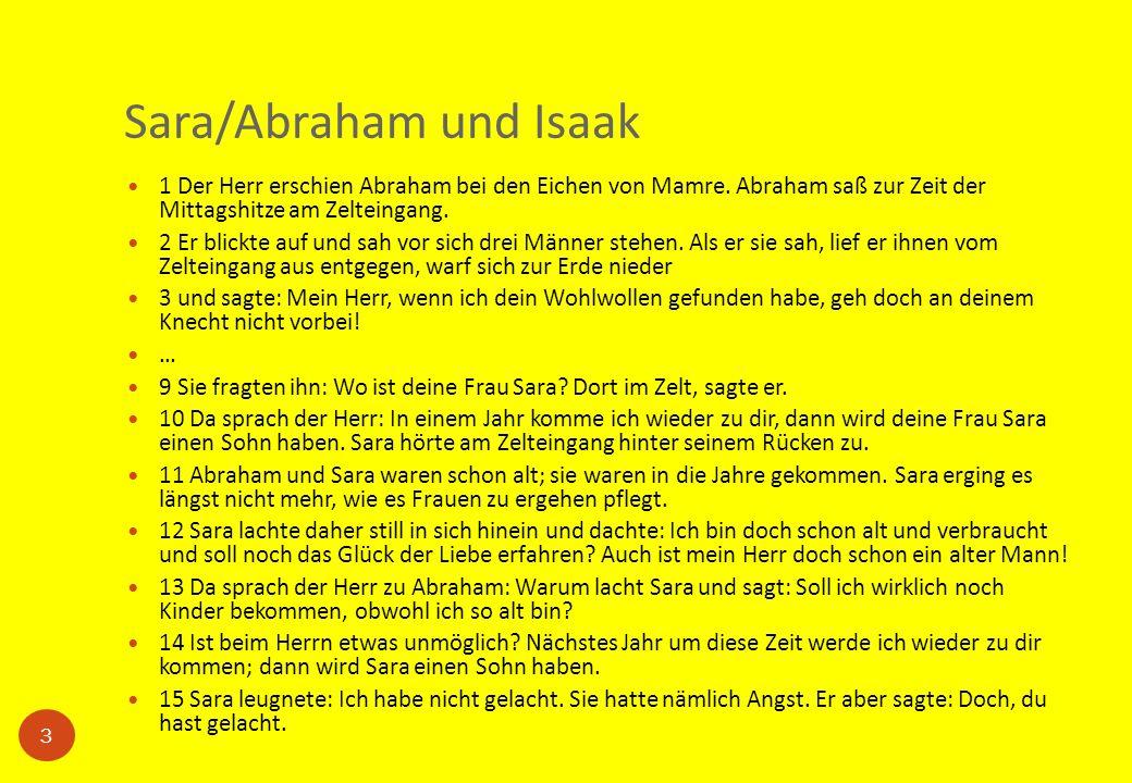 Sara/Abraham und Isaak