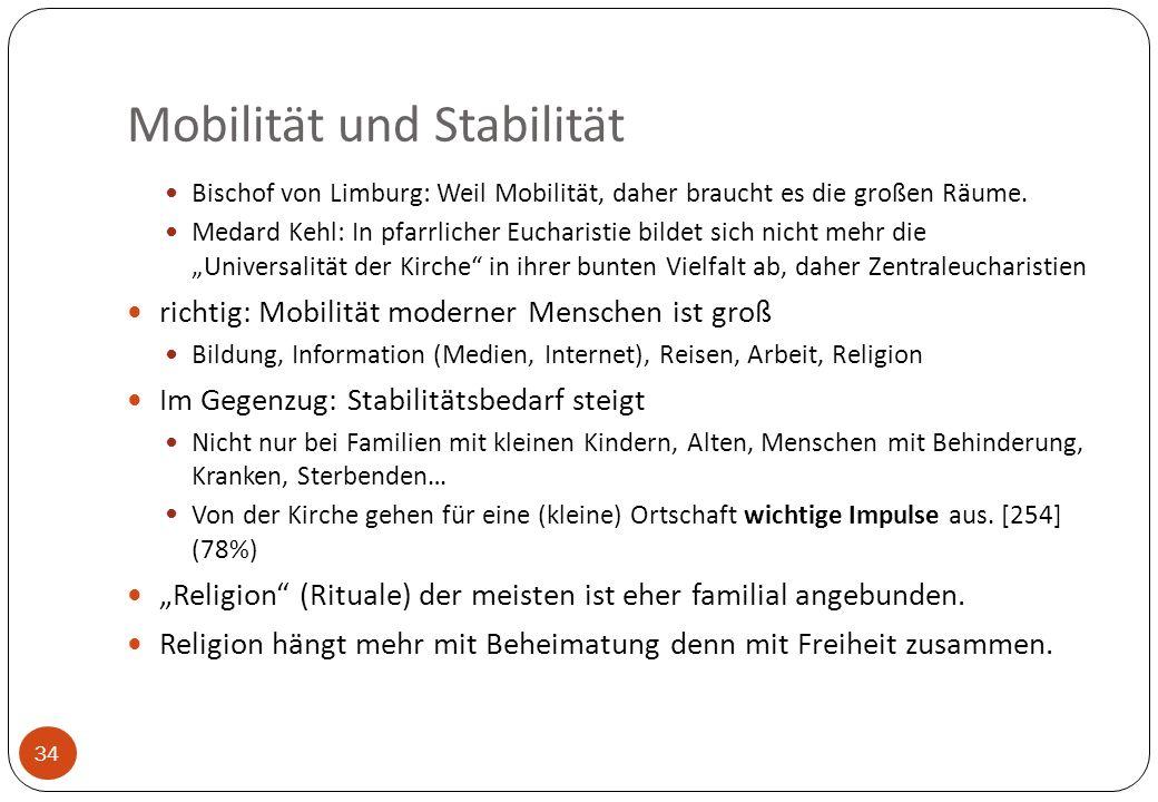 Mobilität und Stabilität