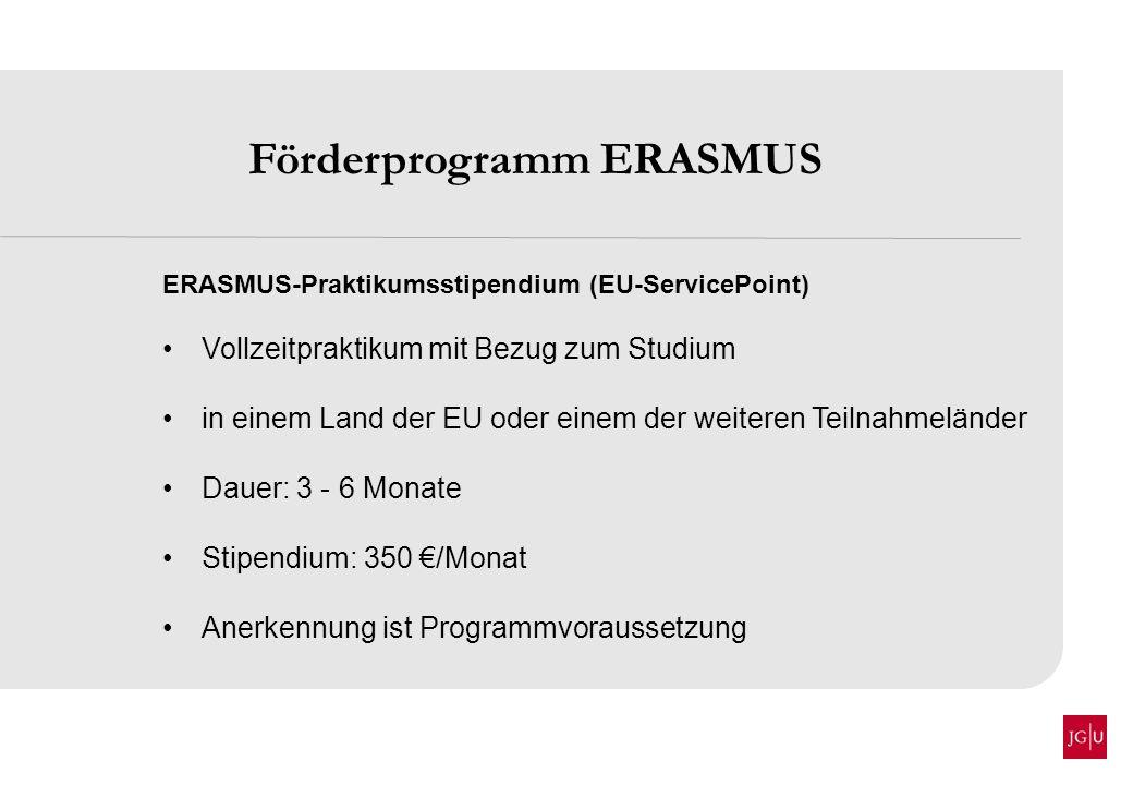 Förderprogramm ERASMUS