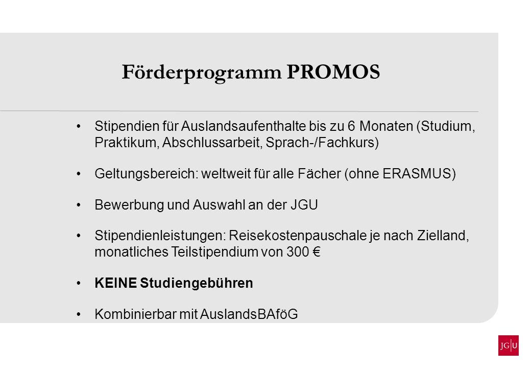 Förderprogramm PROMOS
