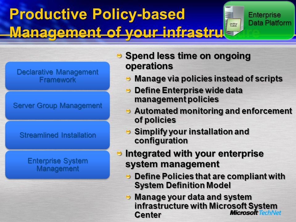 Productive Policy-based Management of your infrastructure