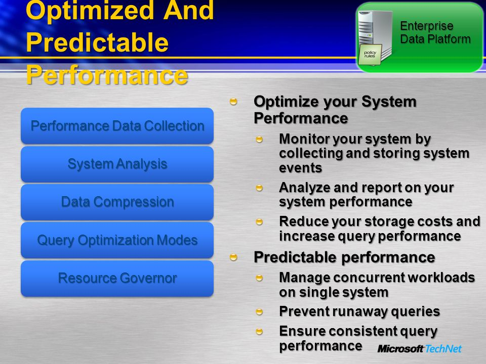 Optimized And Predictable Performance