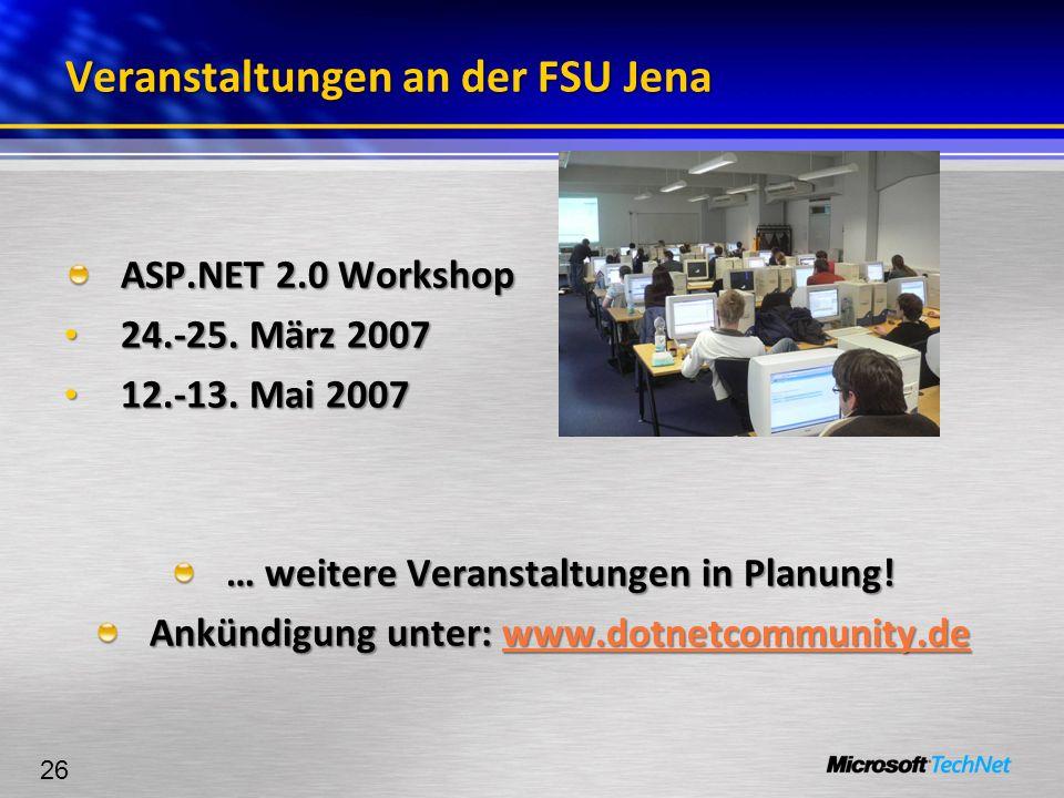 Veranstaltungen an der FSU Jena