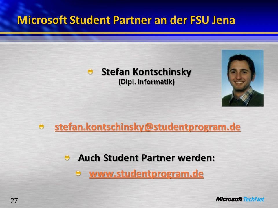 Microsoft Student Partner an der FSU Jena