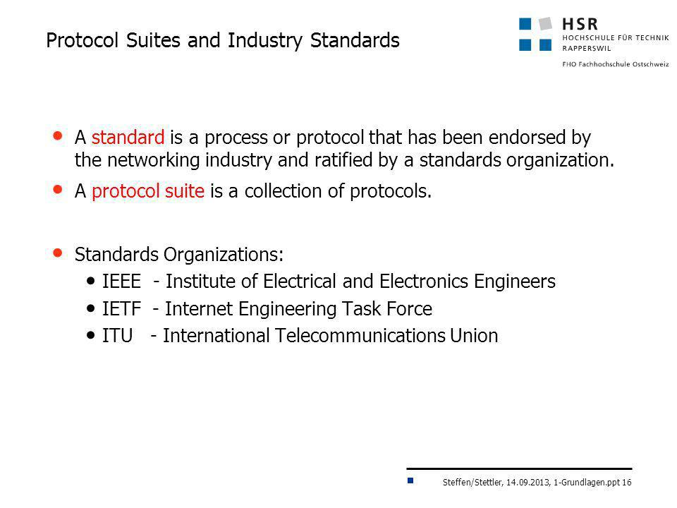 Protocol Suites and Industry Standards