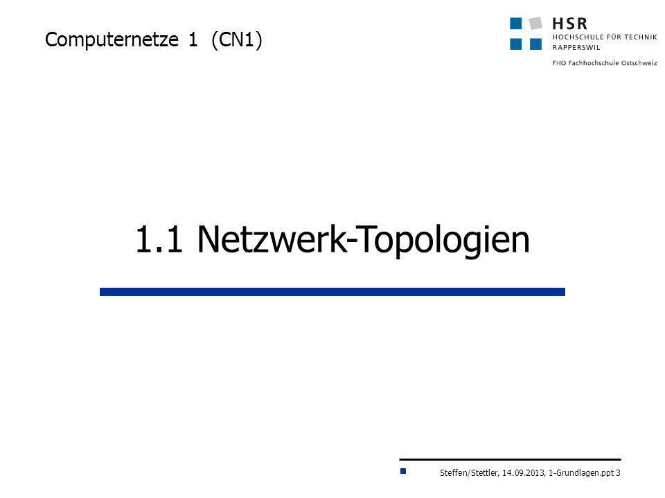 Computernetze 1 (CN1) 1.1 Netzwerk-Topologien