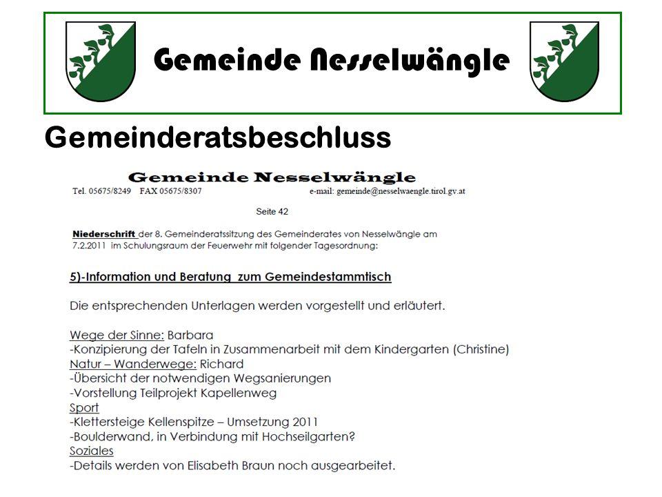 Gemeinderatsbeschluss