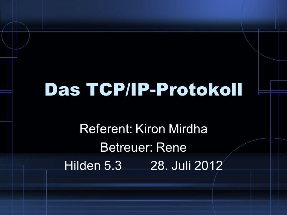 Referent: Kiron Mirdha Betreuer: Rene Hilden 5.3 28. Juli 2012