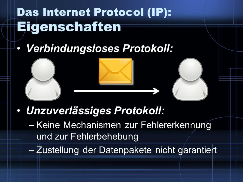 Das Internet Protocol (IP): Eigenschaften