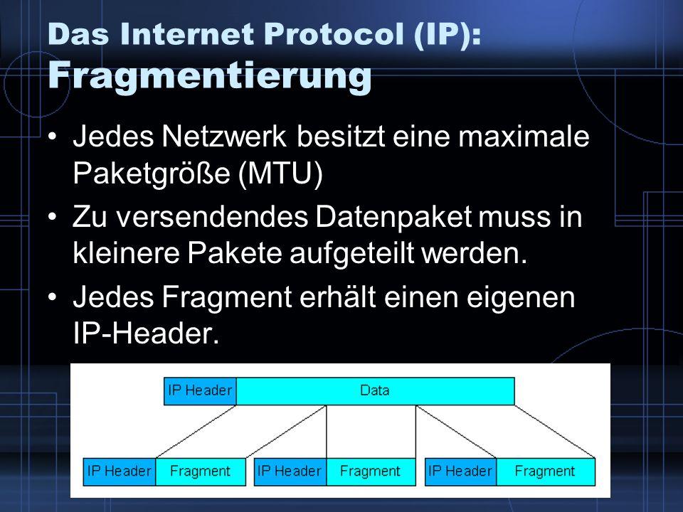 Das Internet Protocol (IP): Fragmentierung