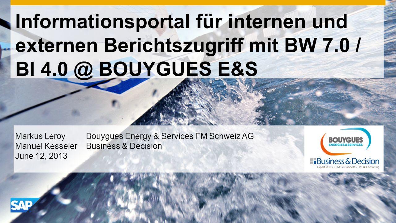 Informationsportal für internen und externen Berichtszugriff mit BW 7
