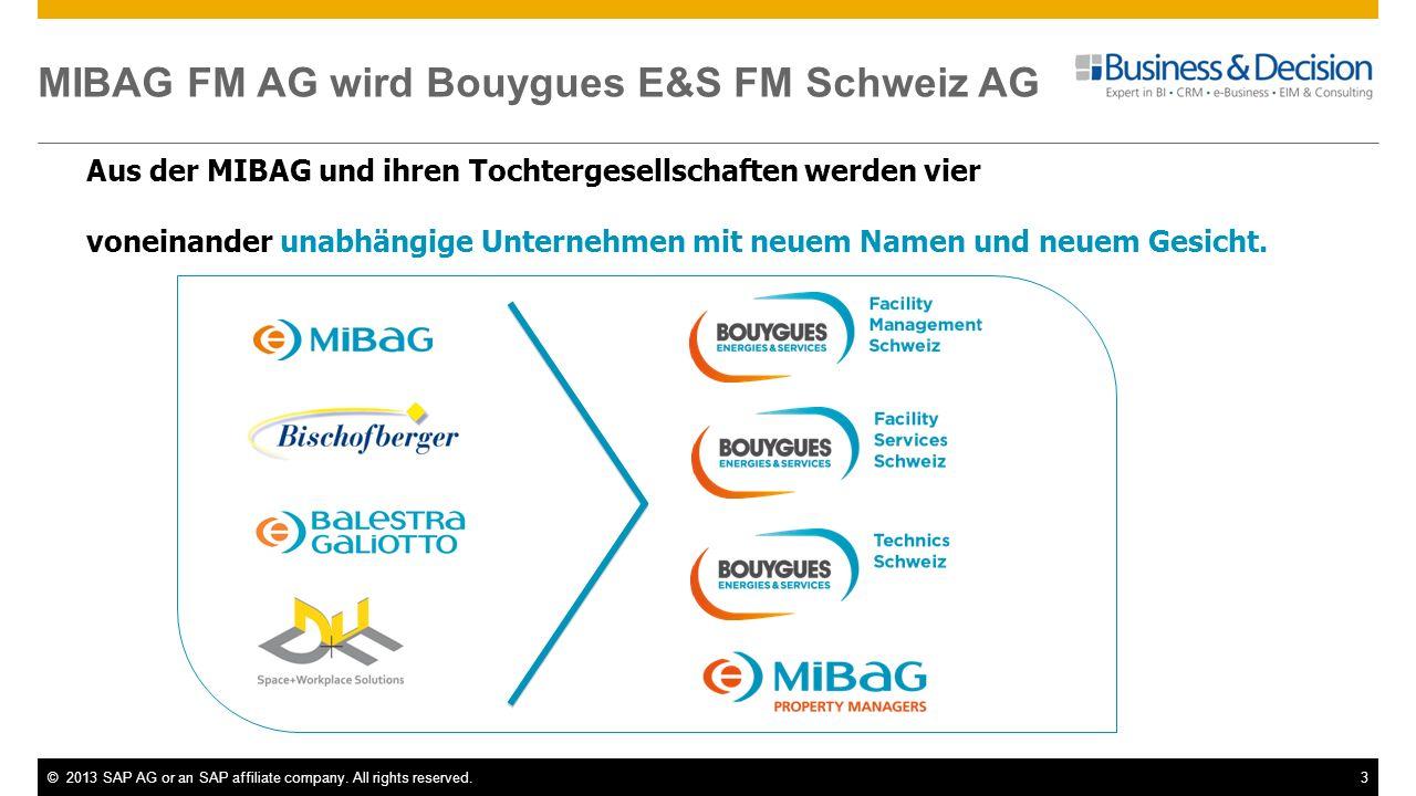 MIBAG FM AG wird Bouygues E&S FM Schweiz AG