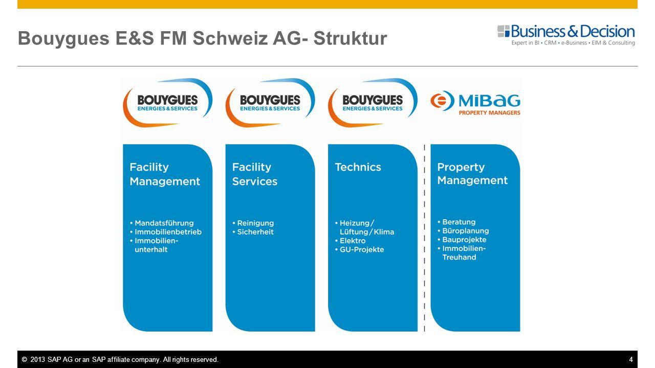 Bouygues E&S FM Schweiz AG- Struktur