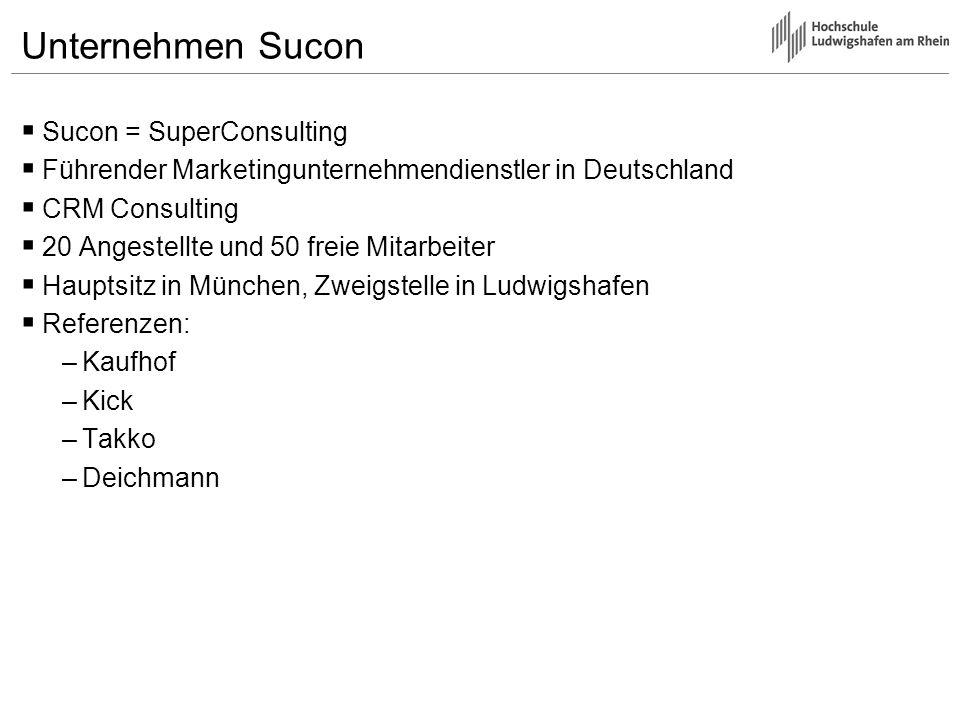 Unternehmen Sucon Sucon = SuperConsulting