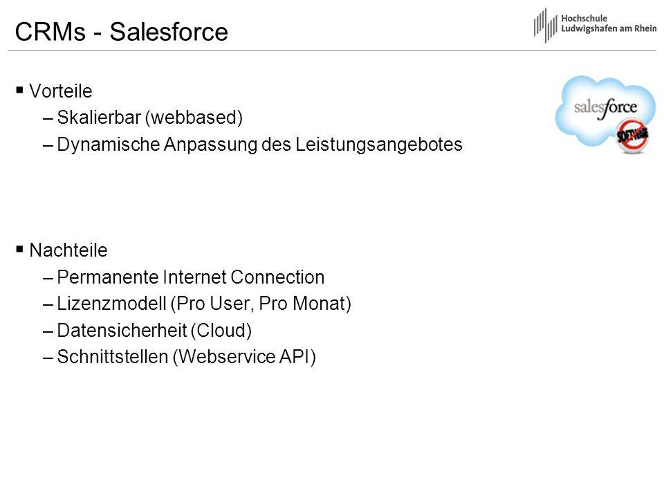 CRMs - Salesforce Vorteile Skalierbar (webbased)
