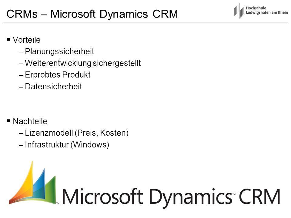 CRMs – Microsoft Dynamics CRM