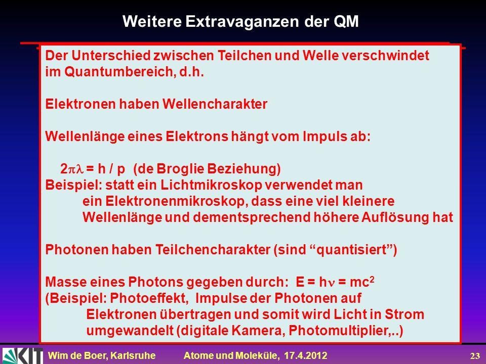 Weitere Extravaganzen der QM
