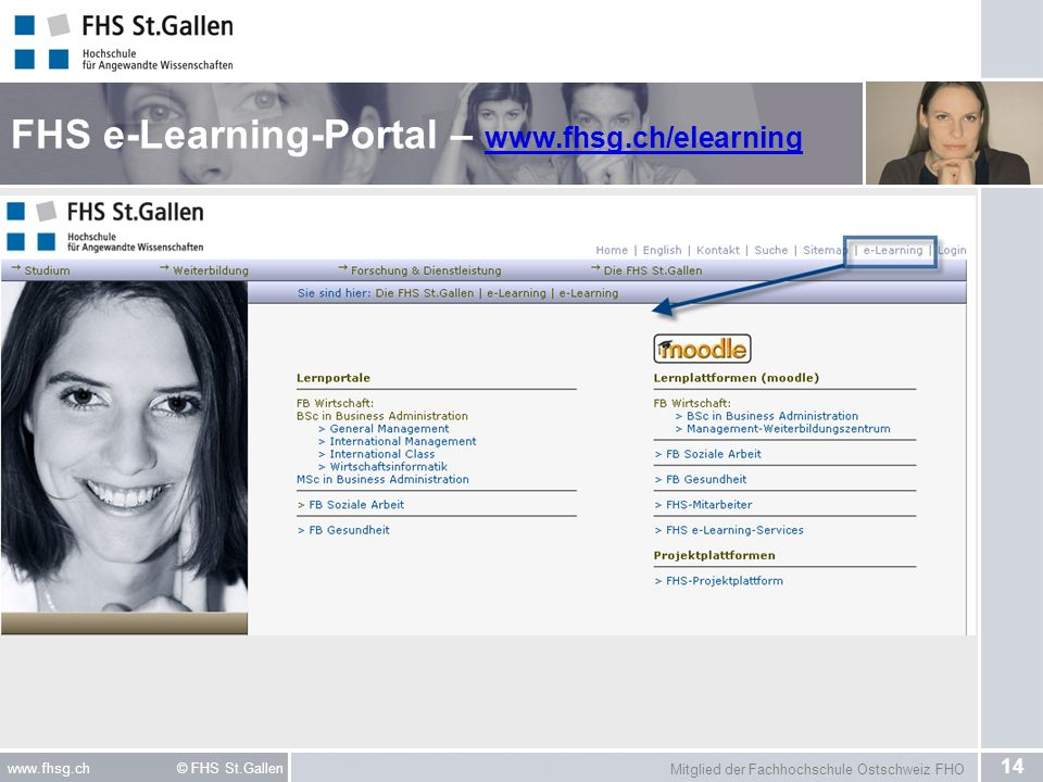 FHS e-Learning-Portal – www.fhsg.ch/elearning