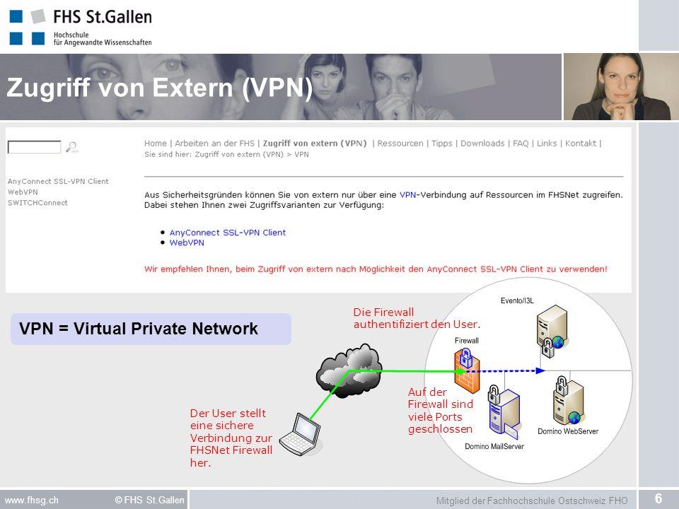 Zugriff von Extern (VPN)