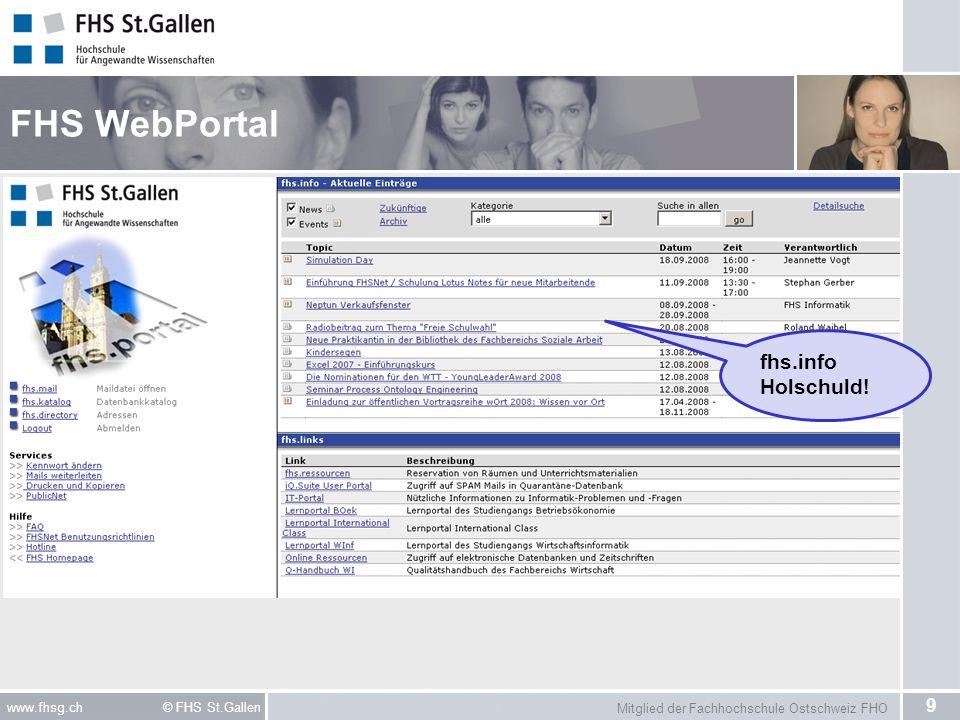 FHS WebPortal fhs.info Holschuld!