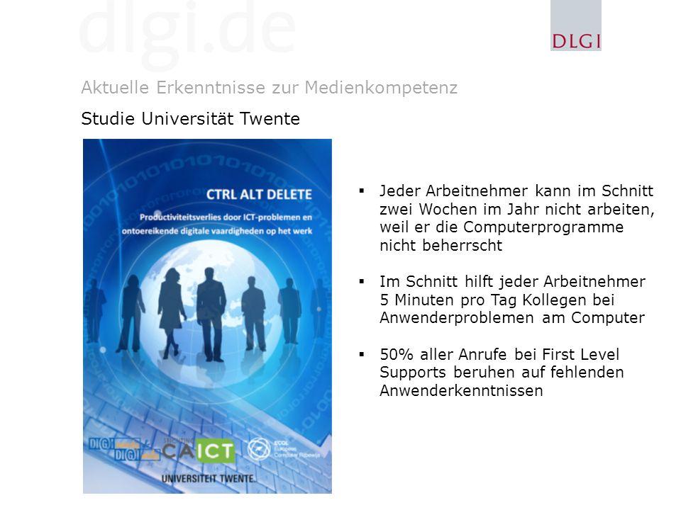 Aktuelle Erkenntnisse zur Medienkompetenz Studie Universität Twente
