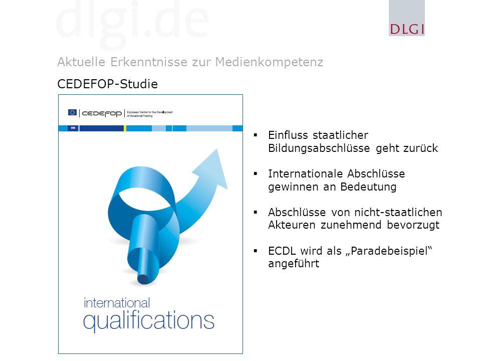 Aktuelle Erkenntnisse zur Medienkompetenz CEDEFOP-Studie