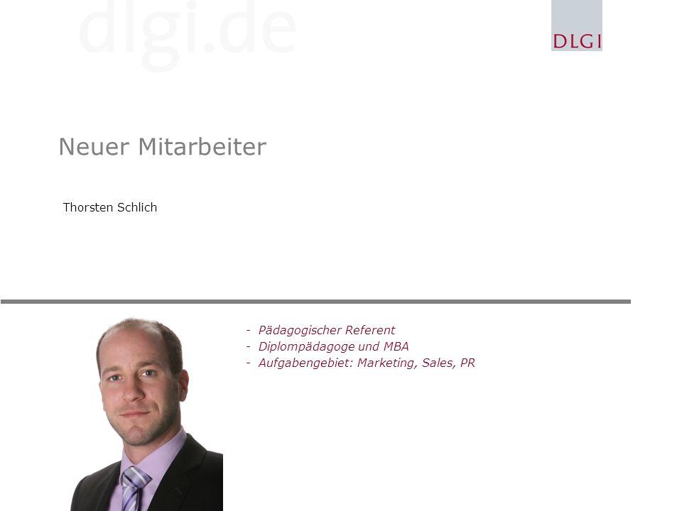 Neuer Mitarbeiter Thorsten Schlich Pädagogischer Referent