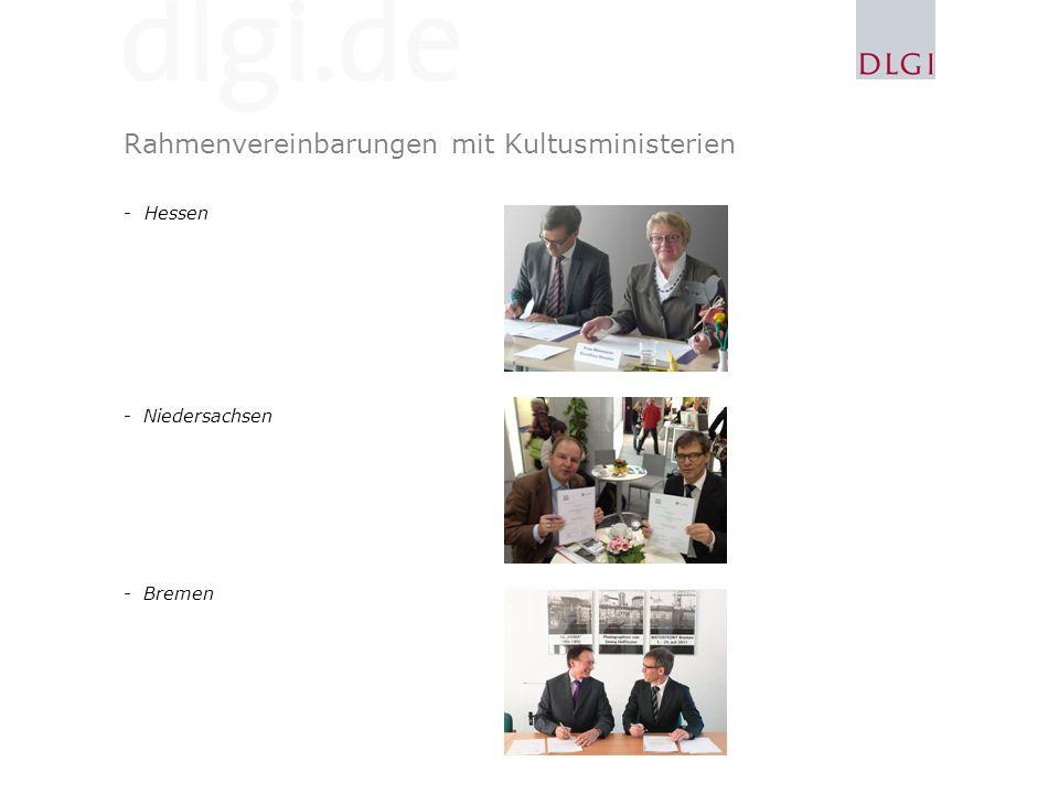 Rahmenvereinbarungen mit Kultusministerien