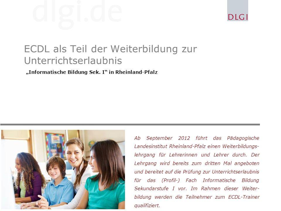 ECDL als Teil der Weiterbildung zur Unterrichtserlaubnis
