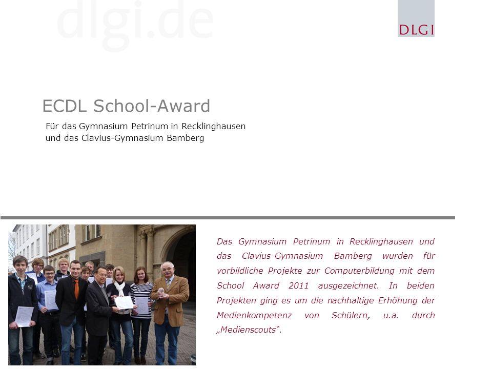 ECDL School-Award Für das Gymnasium Petrinum in Recklinghausen
