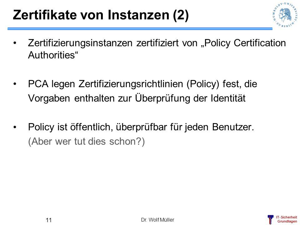 Zertifikate von Instanzen (2)