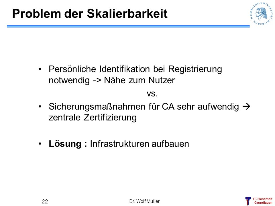 Problem der Skalierbarkeit