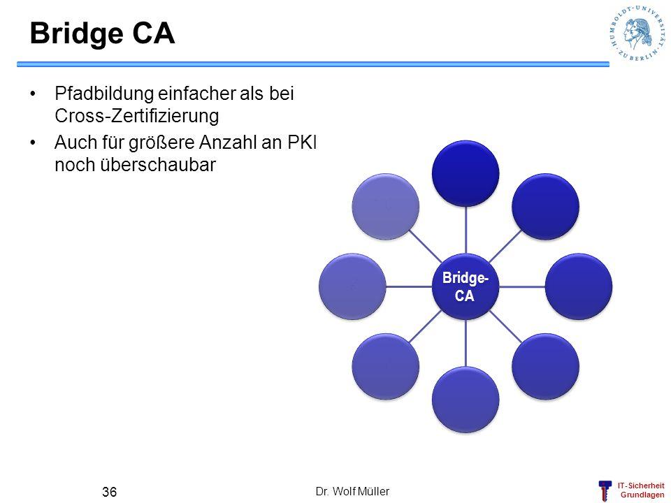 Bridge CA Pfadbildung einfacher als bei Cross-Zertifizierung