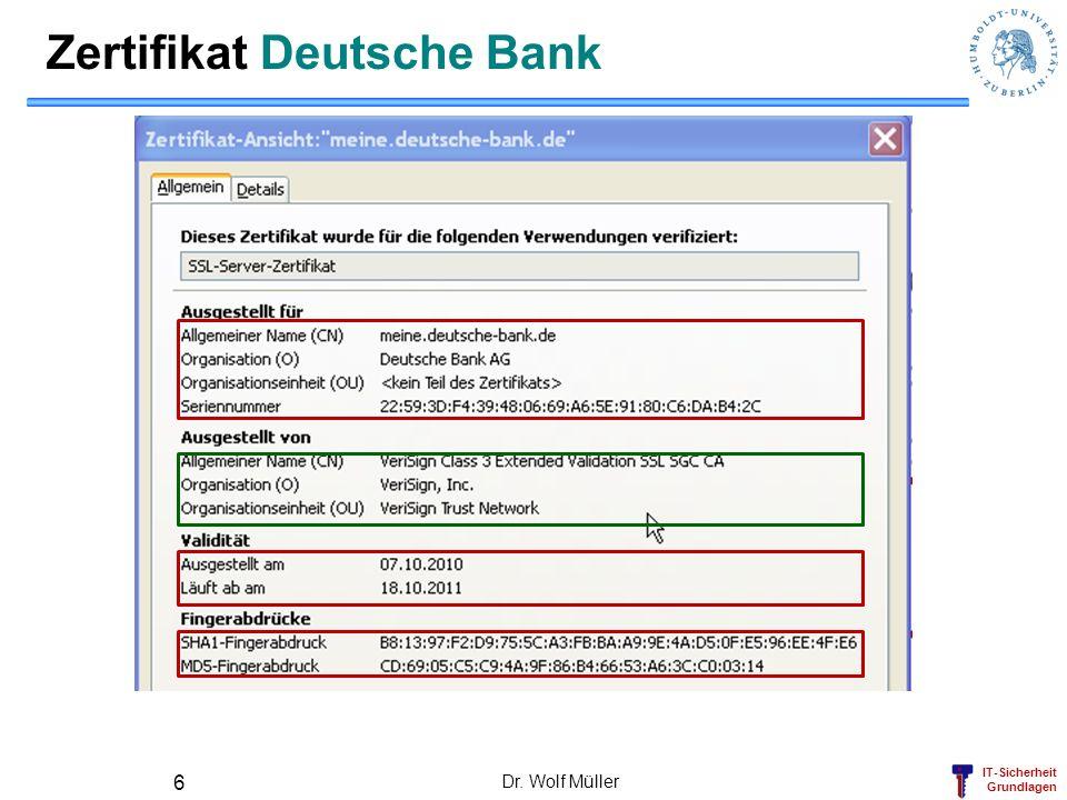 Zertifikat Deutsche Bank