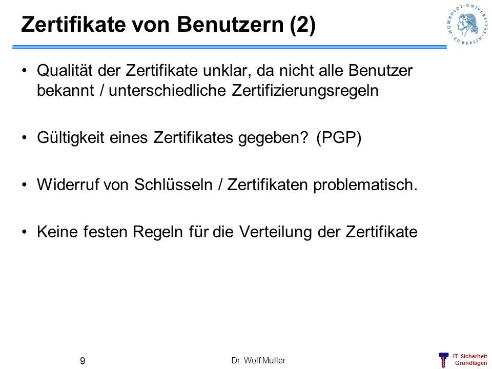 Zertifikate von Benutzern (2)