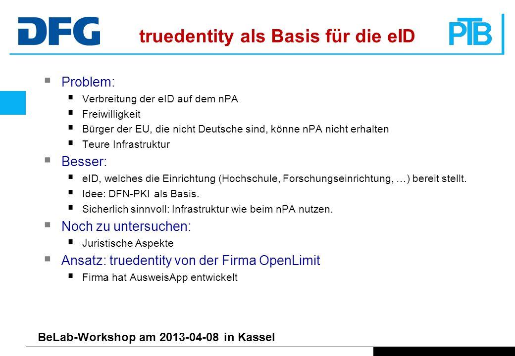 truedentity als Basis für die eID