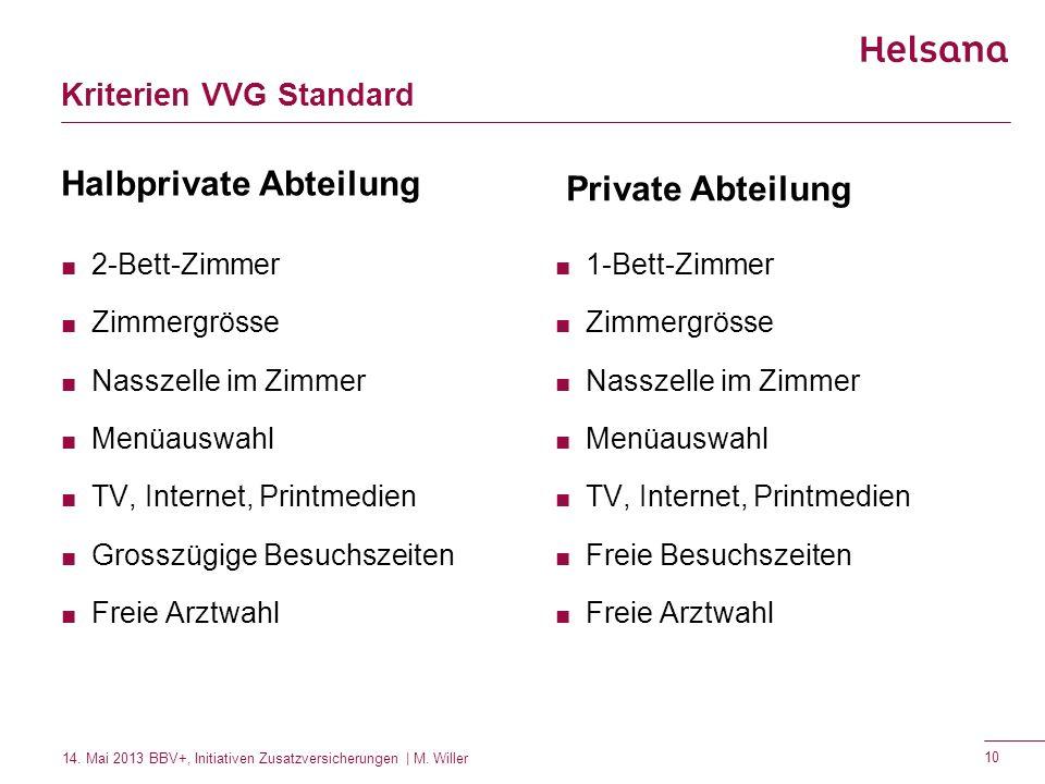 Kriterien VVG Standard