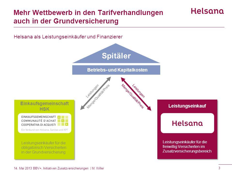 Betriebs- und Kapitalkosten Einkaufsgemeinschaft HSK