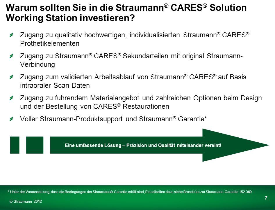 Warum sollten Sie in die Straumann® CARES® Solution Working Station investieren