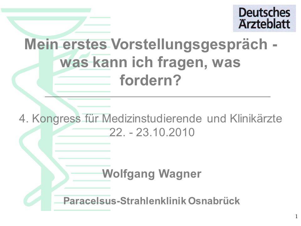 Mein erstes Vorstellungsgespräch - Paracelsus-Strahlenklinik Osnabrück