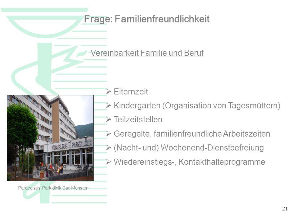 Frage: Familienfreundlichkeit