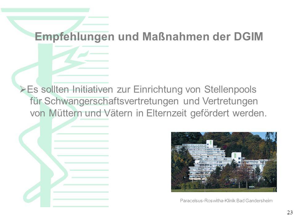 Empfehlungen und Maßnahmen der DGIM