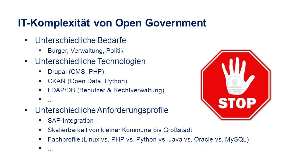 IT-Komplexität von Open Government